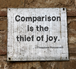 comparision is the theif of joy