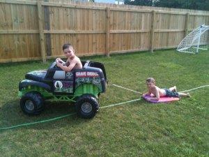 Back yard pull